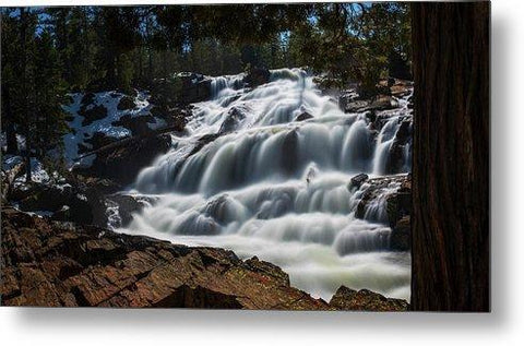 Glen Alpine Waterfall By Brad Scott - Metal Print-Lake Tahoe Prints