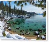 "Glistening Cove By Brad Scott - Canvas Print-10.000"" x 7.375""-Lake Tahoe Prints"