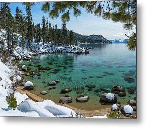 Glistening Cove By Brad Scott - Metal Print-Metal Print-Lake Tahoe Prints