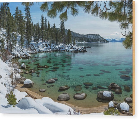 Glistening Cove By Brad Scott - Wood Print