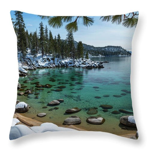 Glistening Cove By Brad Scott - Throw Pillow-Lake Tahoe Prints