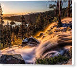 "Golden Light By Mike Breshears - Canvas Print-8.000"" x 6.250""-Lake Tahoe Prints"
