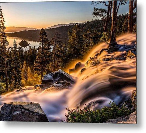 Golden Light By Mike Breshears - Metal Print