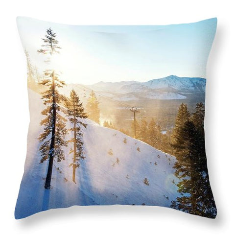 Gunbarrel Rays By Brad Scott - Throw Pillow-Lake Tahoe Prints