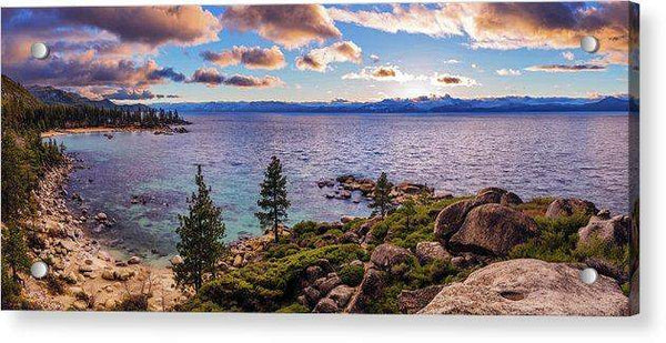 Heavenly Glow At Sand Harbor By Brad Scott - Acrylic Print