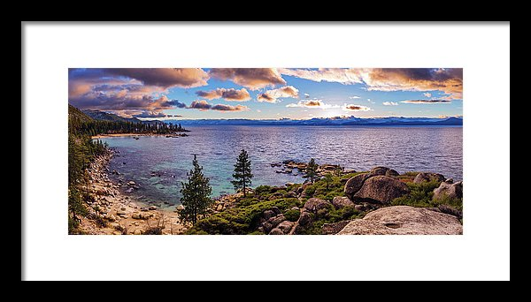 Heavenly Glow At Sand Harbor By Brad Scott - Framed Print