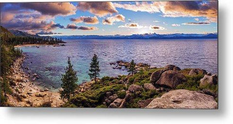 Heavenly Glow At Sand Harbor By Brad Scott - Metal Print-Lake Tahoe Prints