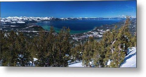Heavenly Gondola View By Brad Scott - Metal Print-Lake Tahoe Prints