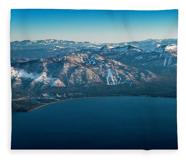 Heavenly Lake Tahoe Aerial - Blanket