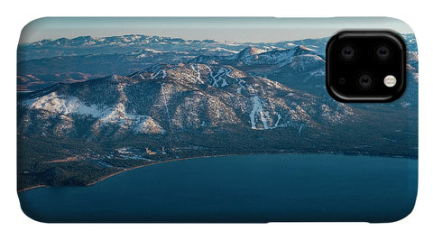 Heavenly Lake Tahoe Aerial - Phone Case