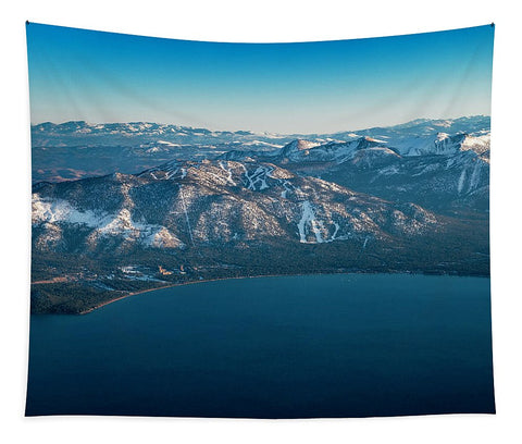 Heavenly Lake Tahoe Aerial - Tapestry