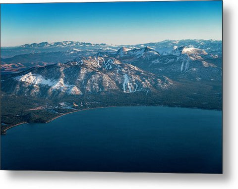 Heavenly Lake Tahoe Aerial - Metal Print by Brad Scott