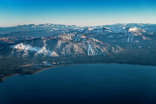 Heavenly Lake Tahoe Aerial - Art Print