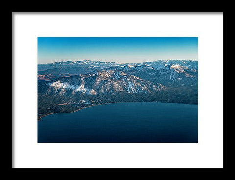 Heavenly Lake Tahoe Aerial - Framed Print