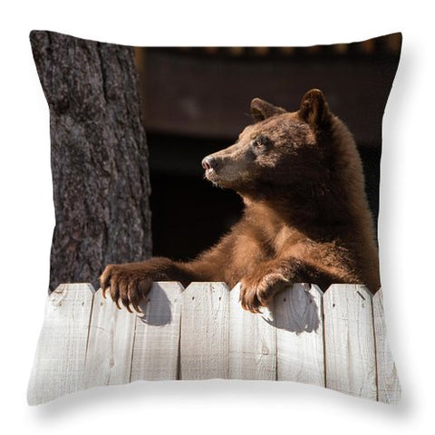 Hey There Neighbor By Brad Scott - Throw Pillow-Lake Tahoe Prints