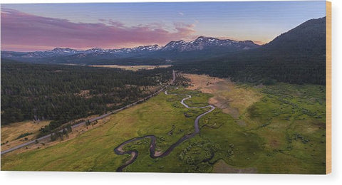 Hope Valley Aerial By Mike Breshears - Wood Print
