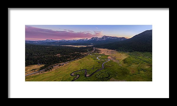 Hope Valley Aerial By Mike Breshears - Framed Print