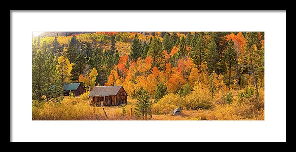 Hope Valley Fall Cabin By Brad Scott - Framed Print