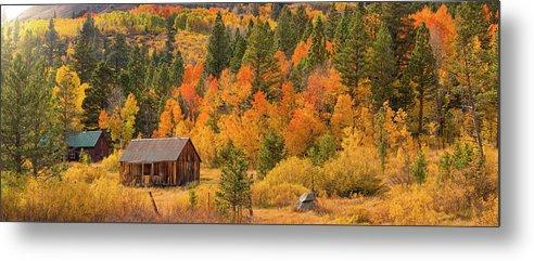 Hope Valley Fall Cabin By Brad Scott - Metal Print