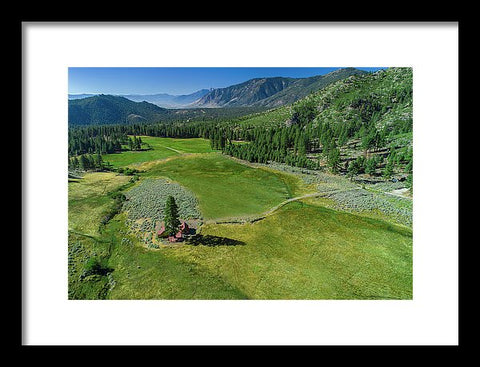 Horse Creek Ranch Aerial - Framed Print