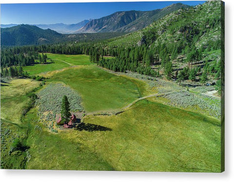 Horse Creek Ranch Aerial - Acrylic Print