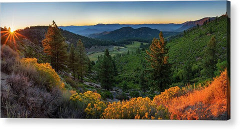 Horse Creek Ranch Sunrise - Acrylic Print