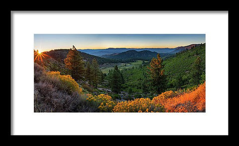 Horse Creek Ranch Sunrise - Framed Print