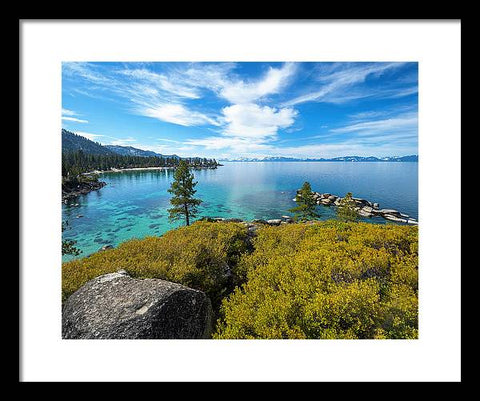 Manzanita View - Sand Harbor Lake Tahoe - Framed Print