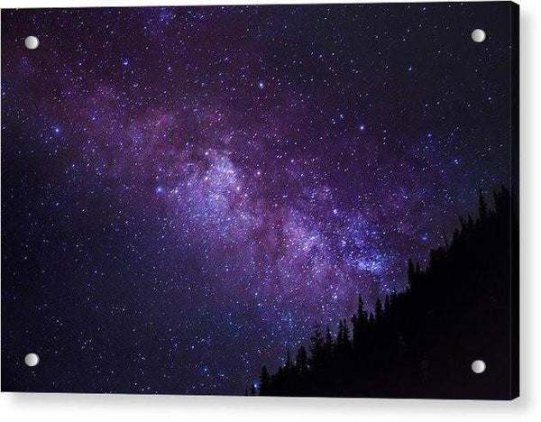 Milky Way Hill - Acrylic Print