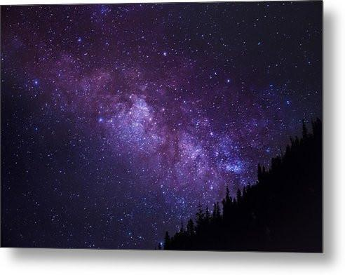 Milky Way Hill - Metal Print
