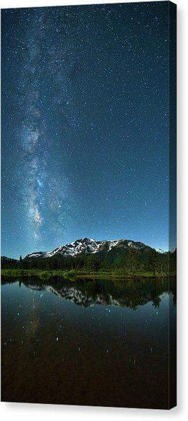 "Milkyway Over Tallac By Brad Scott - Canvas Print-9.750"" x 20.000""-Lake Tahoe Prints"
