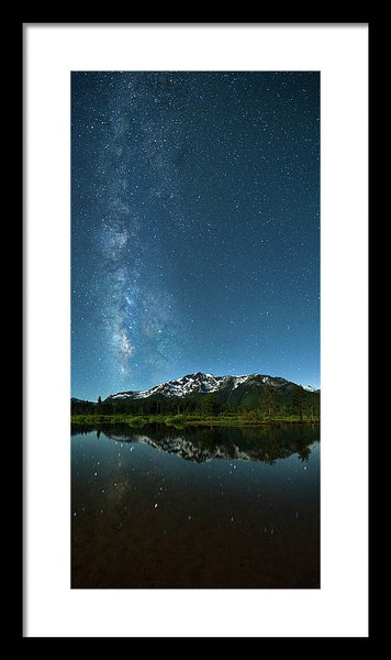 Milkyway Over Tallac By Brad Scott - Framed Print