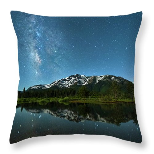 Milkyway Over Tallac By Brad Scott - Throw Pillow-Lake Tahoe Prints