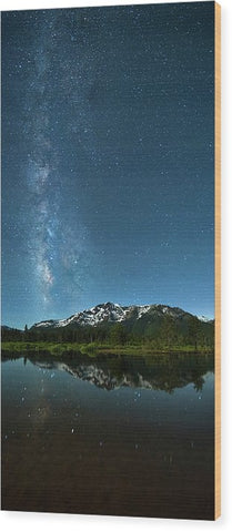 Milkyway Over Tallac By Brad Scott - Wood Print
