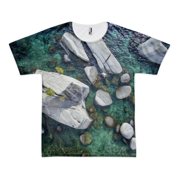 Bonsai Rock Aerial Short sleeve men's t-shirt (unisex)