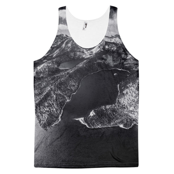 Emerald Bay Aerial B&W Classic fit tank top (unisex)
