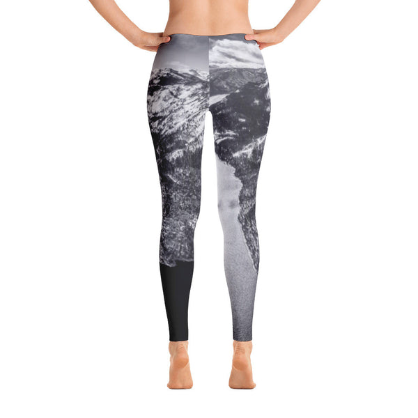 Women's Limited Edition Emerald Bay Aerial B&W Leggings