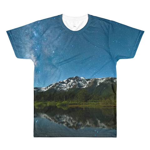 Milkyway Over Tallac Sublimation men's crewneck t-shirt