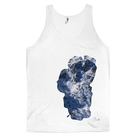 Tahoe outline Mt Tallac Cross Aerial Classic fit tank top (unisex)
