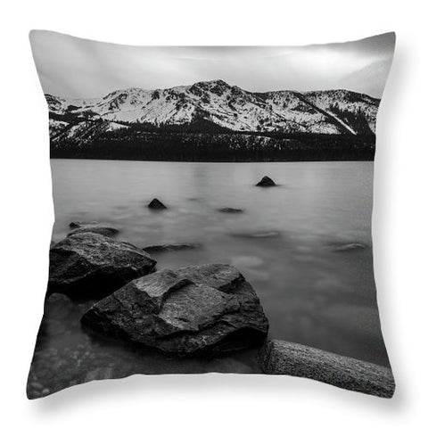 Monochromatic Dream By Brad Scott - Throw Pillow-Lake Tahoe Prints