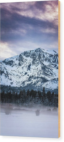 Mt Tallac Foggy Meadow - Wood Print by Brad Scott