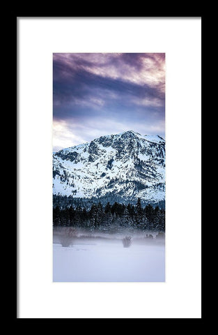 Mt Tallac Foggy Meadow - Framed Print by Brad Scott