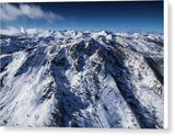 "Mt Tallac Winter Aerial - Brad Scott - Canvas Print-10.000"" x 6.625""-Lake Tahoe Prints"