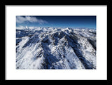 Mt Tallac Winter Aerial - Brad Scott - Framed Print