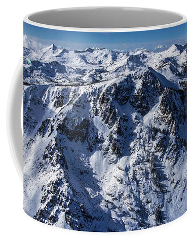 Mt Tallac Winter Aerial - Brad Scott - Mug