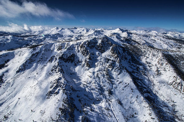Mt Tallac Winter Aerial - Brad Scott - Art Print