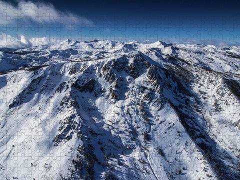 Mt Tallac Winter Aerial - Brad Scott - Puzzle