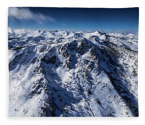 Mt Tallac Winter Aerial - Brad Scott - Blanket