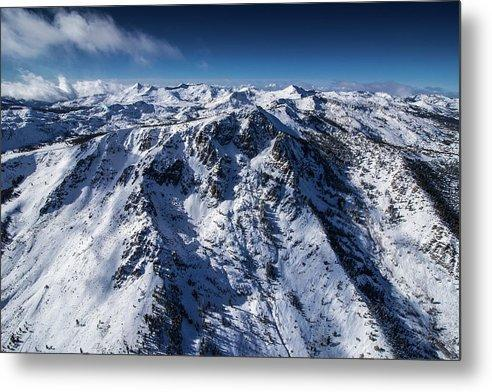 Mt Tallac Winter Aerial - Brad Scott - Metal Print