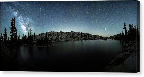 Neowise Comet over Desolation Wilderness by Brad Scott - Canvas Print